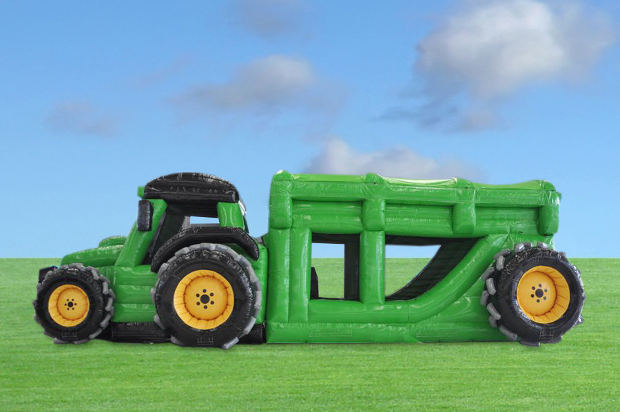 Tractor Trailer Inflatable Green 3
